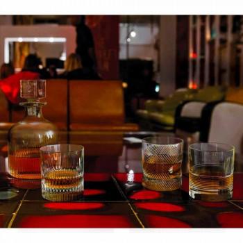 2 Whiskyflessen met Eco-vriendelijke Crystal Cap Vintage Design - Tactiel