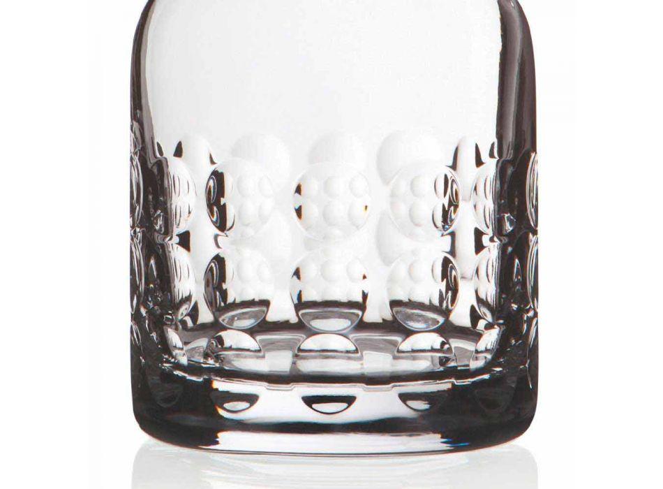 2 flessen voor whisky in ecologisch kristal versierd met dop - titaniobal