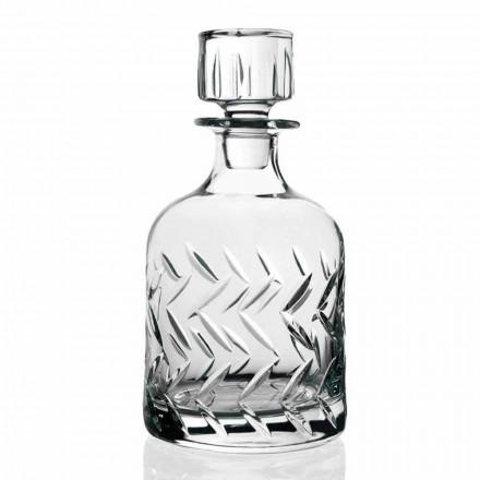 2 ecologische kristallen whiskyflessen met deksel, vintage decoraties - aritmie