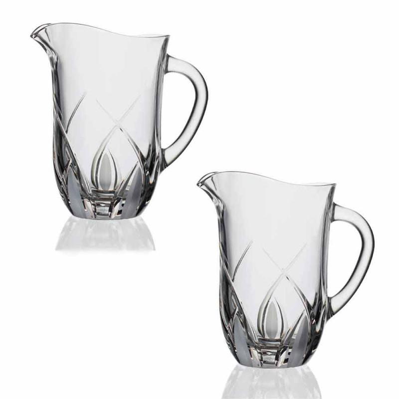 2 Ecologische Kristallen Waterkannen Luxe Handversierd Design - Montecristo