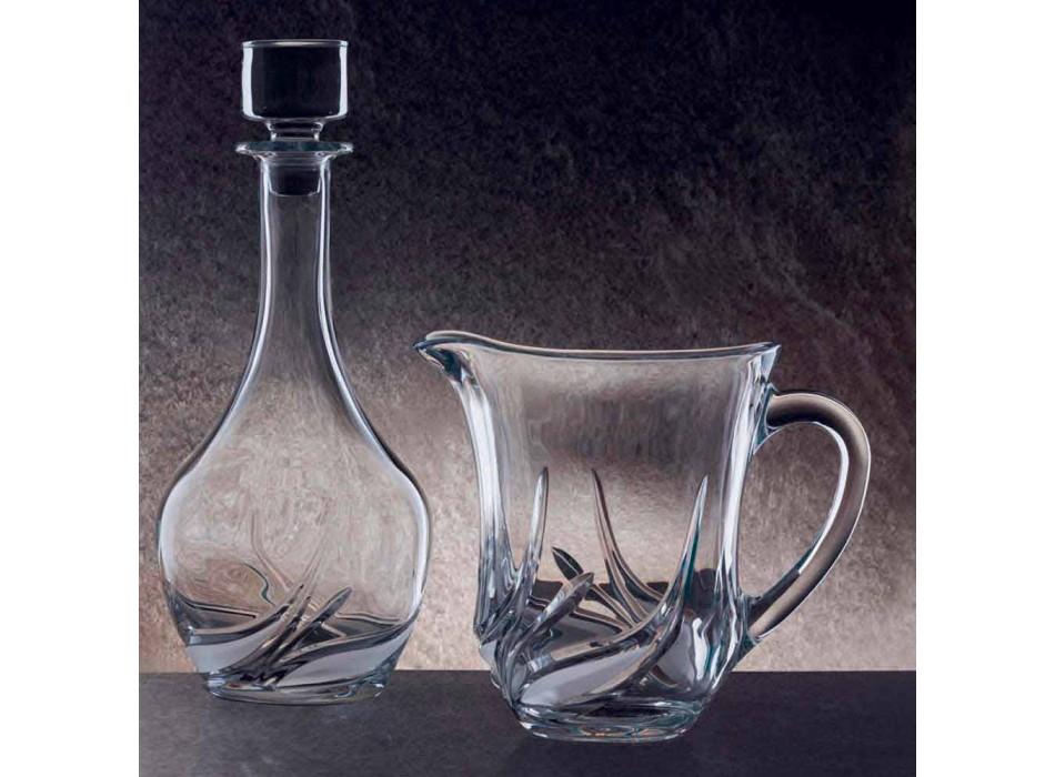 2 waterkannen van ecologisch kristal met luxe decoraties Made in Italy - Advent