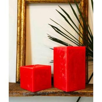 2 vierkante kaarsen van verschillende groottes in was gemaakt in Italië - Adelle