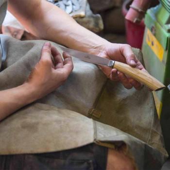 2 steakmessen met handvat in ossenhoorn of hout Made in Italy - Marino