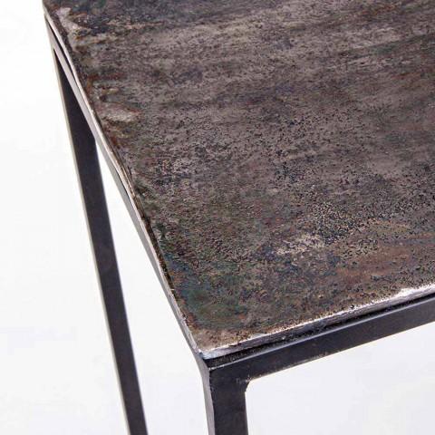 2 Consolle in staal Industriële stijl Modern design Homemotion - Sesam