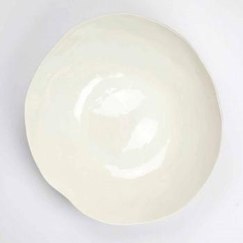 2 Saladeschalen in wit porselein Unieke stukken Italiaans design - Arciconcreto