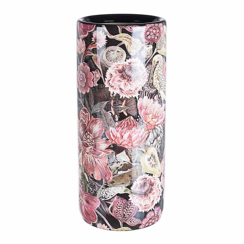 2 porseleinen paraplubak met Homemotion bloemsticker - Jolly