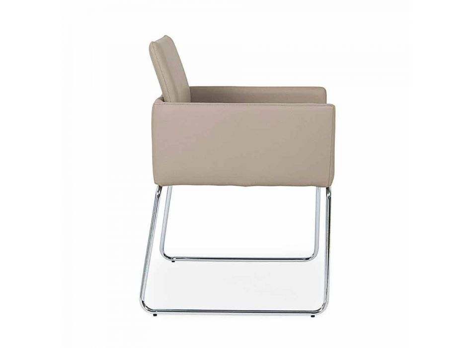 2 stoelen met armleuningen bekleed met kunstleer Modern Design Homemotion - Farra