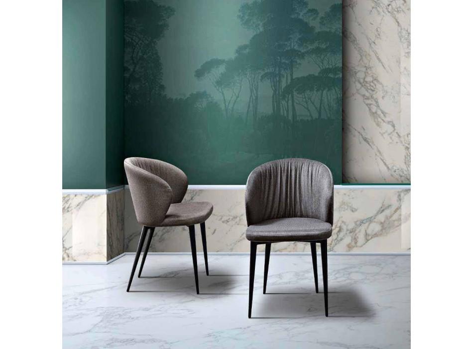 2 woonkamerstoelen in stof en essen met elegant design - Reginaldo