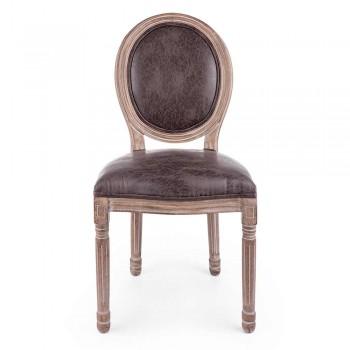 2 klassieke design eetkamerstoelen in polyester Homemotion - Dalida