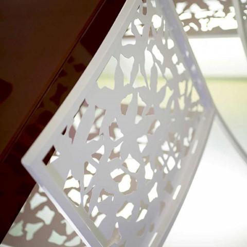 2 krukken in wit metaal met lasergesneden laag of hoog ontwerp - Patatix