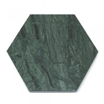 2 zeshoekige onderzetters in wit, zwart of groen marmer gemaakt in Italië - Paulo