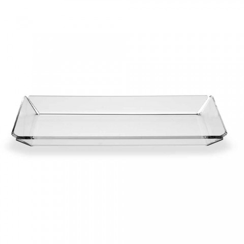 2 Modern Design Entree Plexiglas Dienblad in Transparant Plexiglas - Tonio