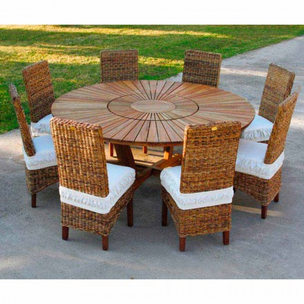 Ronde tafel in massief teak en Real Outdoor Table