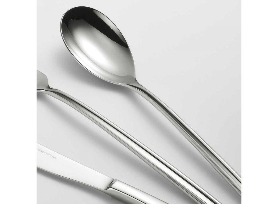24 Bestek van gepolijst staal Driehoekig ontwerp Elegant modern ontwerp - Caplin
