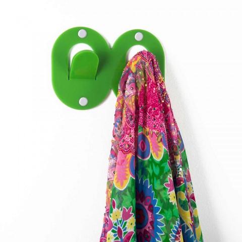 3 muurhangers in gekleurd plexiglas dubbel Italiaans design met clip - Freddie