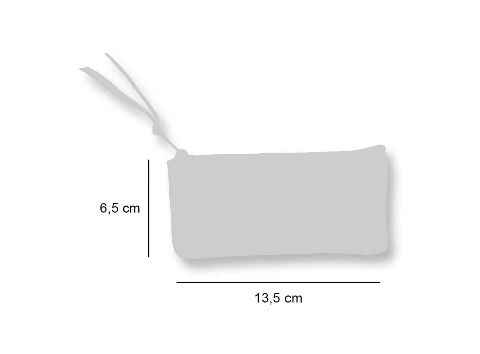 3 handgemaakte hoogwaardige katoenen clutches - Viadurini van Marchi