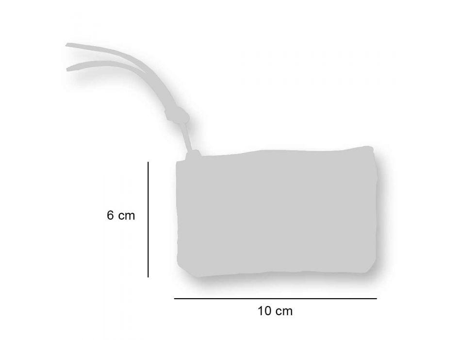 3 handgedrukte katoenen clutches in unieke stukken - Viadurini van Marchi