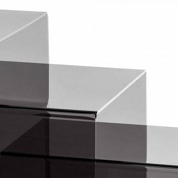 3 nesten salontafels gerookte Amalia, modern design, made in Italy