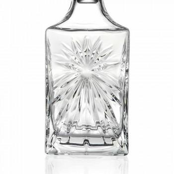 4 Whiskyflessen met vierkant ontwerp van Eco Crystal Cap - Daniele