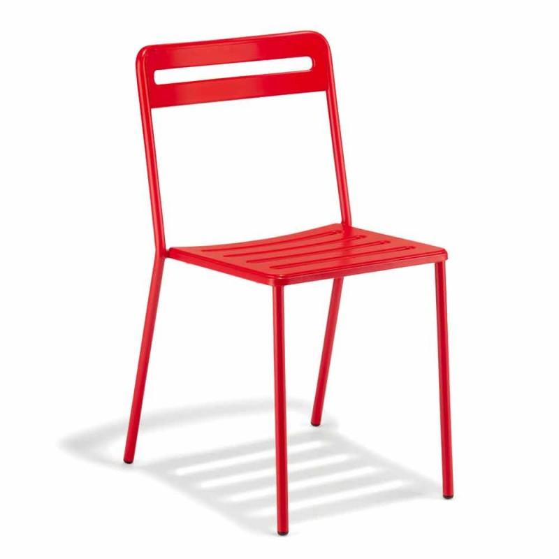 4 stapelbare metalen stoelen voor buiten gemaakt in Italië - Yolonda