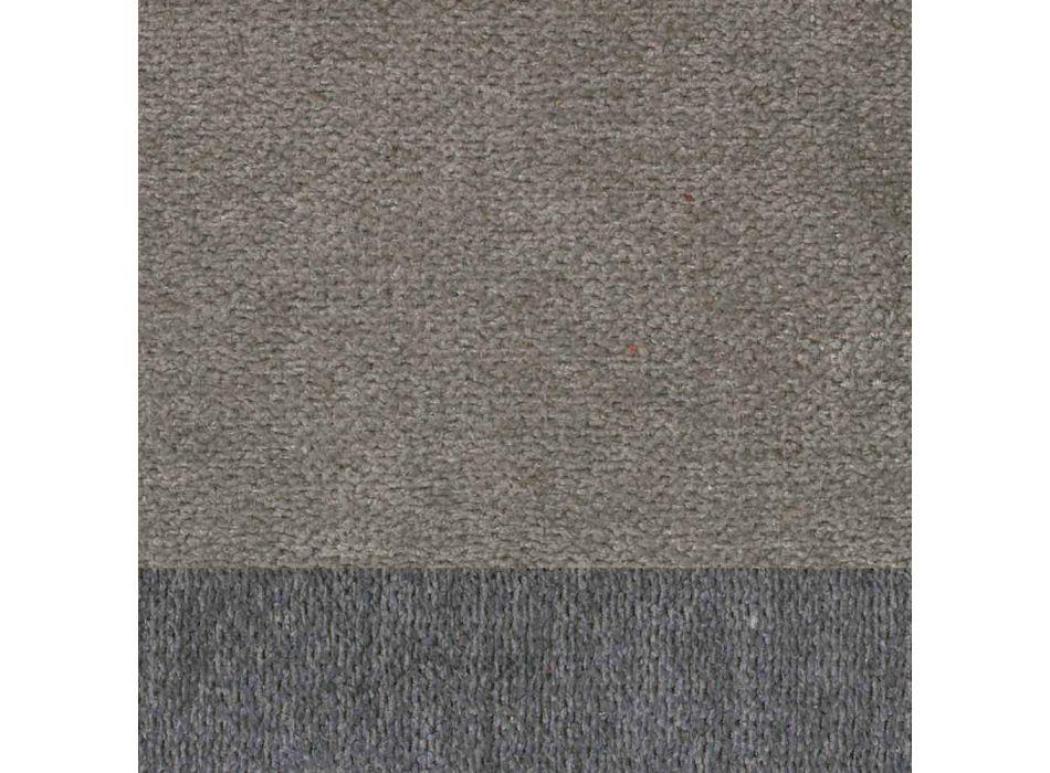 4 elegante moderne design woonkamerstoelen in stof met rand - Scarat