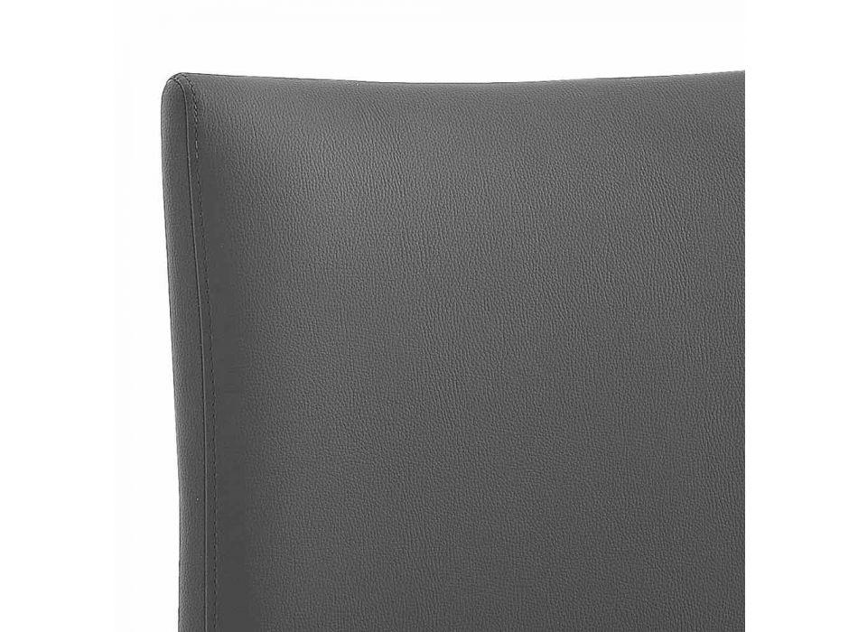 4 elegante moderne designstoelen in gekleurd ecoleer voor de woonkamer - Grenger