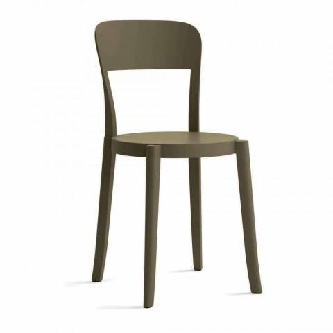 4 stapelbare polypropyleen stoelen voor buiten, gemaakt in Italië Design - Alexus