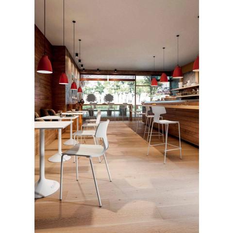 4 stapelbare stoelen in metaal en polypropyleen Made in Italy - Clarinda