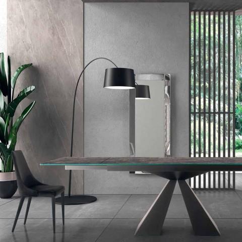 4 moderne stalen stoelen met gestoffeerde fluwelen zitting Made in Italy - Nirvana
