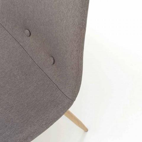 4 eetkamerstoelen met stoffen zitting en metalen structuur - Pampa