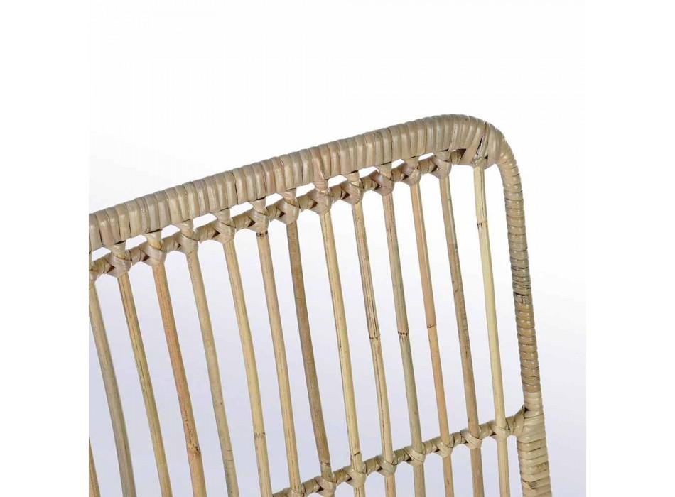 4 Eetkamerstoelen in staal en geweven door Kubu Homemotion - Kendall