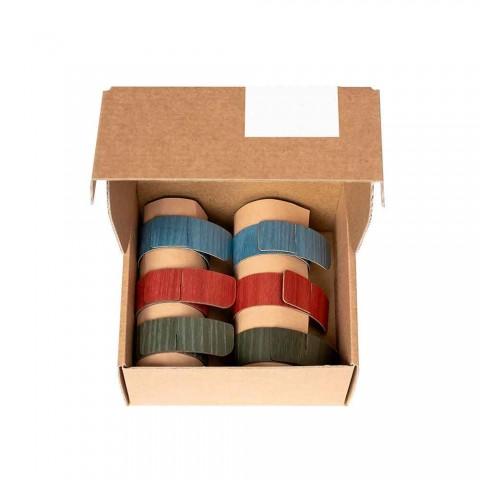 6 Design servetringen in verschillende kleuren Made in Italy - Potty