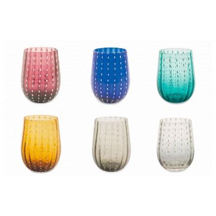 12 gekleurde en moderne glazen glazen voor elegante waterbediening - Perzië