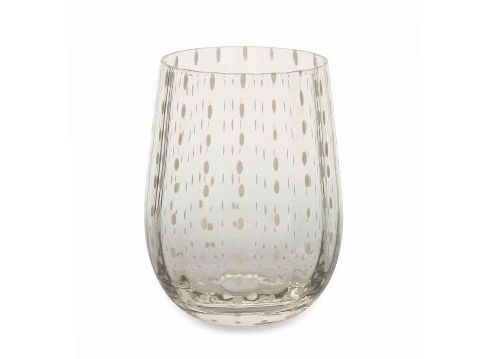 6 gekleurde en moderne glazen glazen voor elegante waterbediening - Perzië