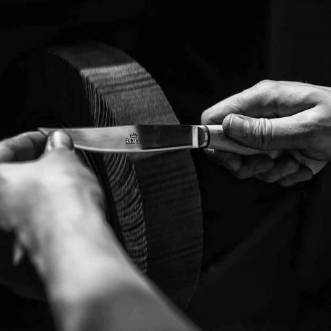 6 Artisan Keukenmessen met Ossenhoorn Handvat Gemaakt in Italië - Marino