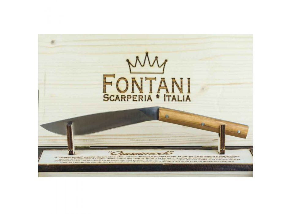 6 ergonomische steakmessen met stalen mes Made in Italy - Shark