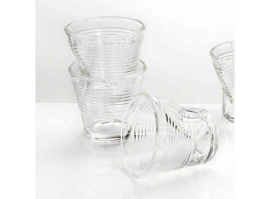 6 koffiekopjes Verfrommelde glazen in gekleurd designglas - Sarabi