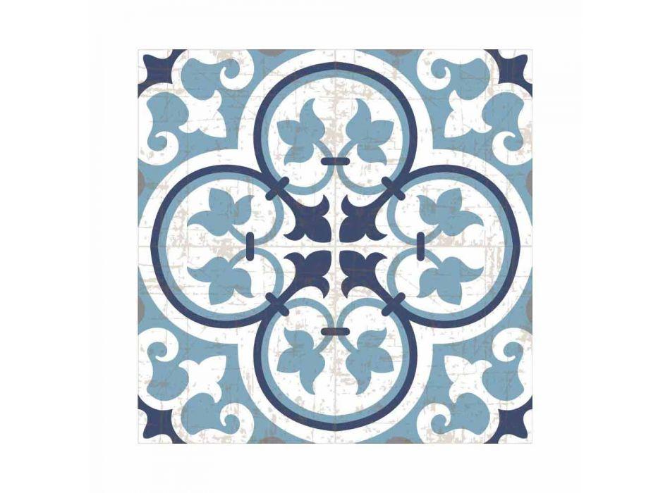 6 Placemats met Amerikaans patroon in PVC en wasbaar polyester - Lindia