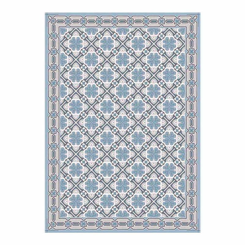 6 elegante Amerikaanse placemats in wasbaar PVC en polyester - Petunia
