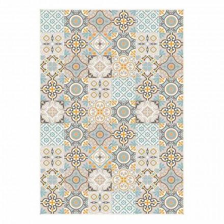 6 elegante Amerikaanse placemats met rechthoekig patroon - Frisca