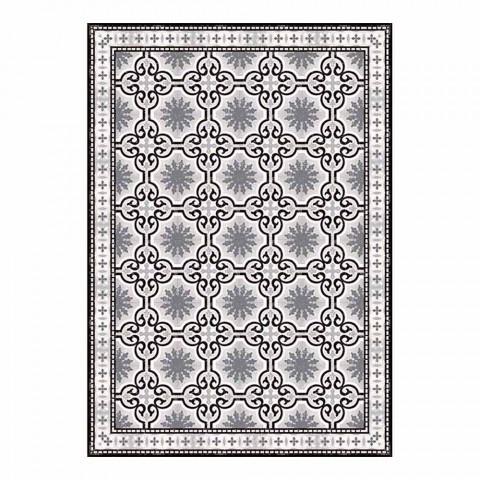 6 Wasbare Amerikaanse placemats met patroon in PVC en polyester - Coria