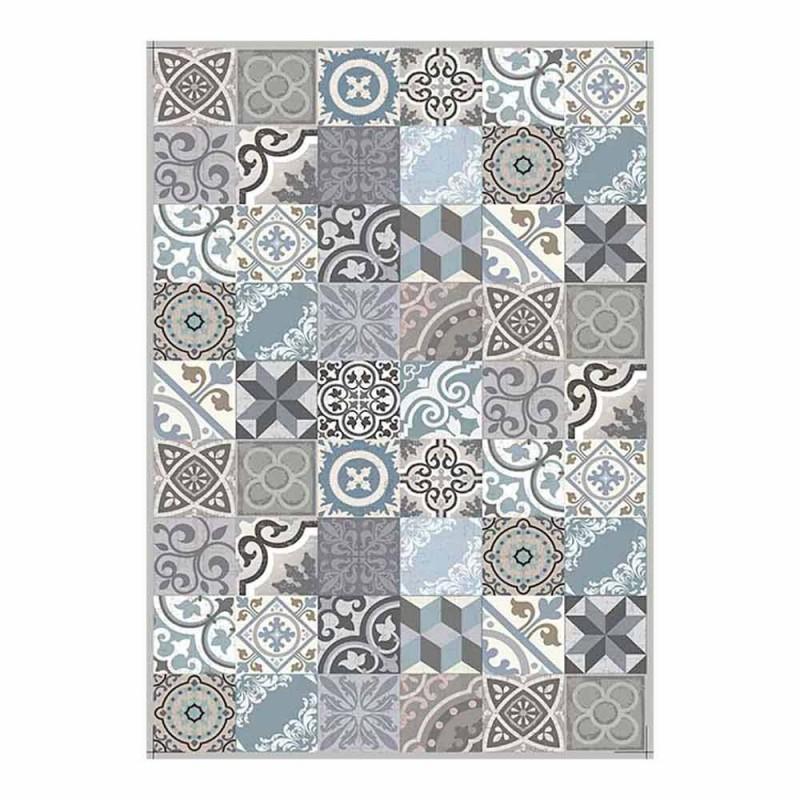 6 wasbare Amerikaanse placemats in pvc en polyester met patroon - Belita