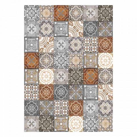 6 Rechthoekige American Design Placemats in PVC en Polyester - Dimetra