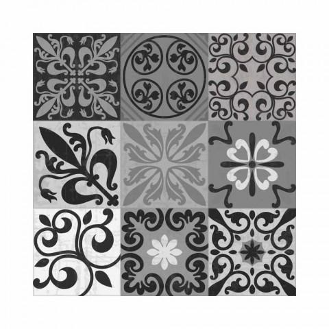 6 elegante placemats in pvc en polyester met zwart of grijs patroon - Pita