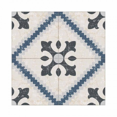6 rechthoekige placemats in pvc en polyester met patroonontwerp - Berimo