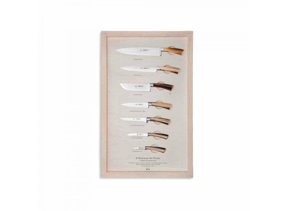 7 Berti roestvrijstalen wandmessen exclusief voor Viadurini - Modigliani