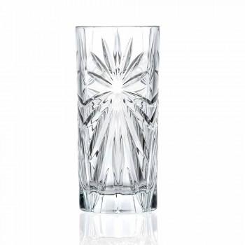 8 Highball Tumbler Hoge Glazen voor Cocktail in Eco Crystal - Malgioglio