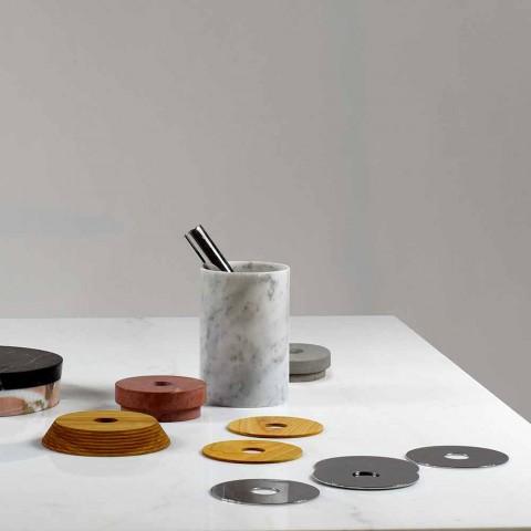 Aperitiefaccessoires Cocktailinstrumenten in marmer, hout en staal - Norman