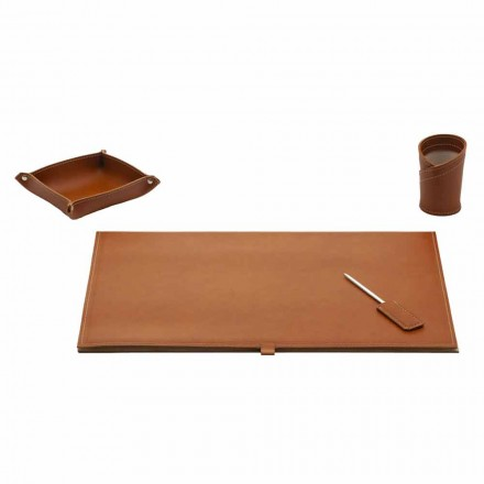 Accessoires voor Designer Bureau in Bonded Leather, 4 stuks - Aristoteles