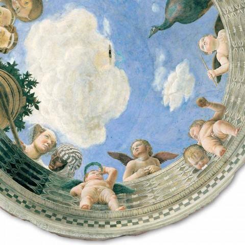 """Andrea Mantegna Fresco """"Oculus met Cherubs en Dame met uitzicht op"""""""